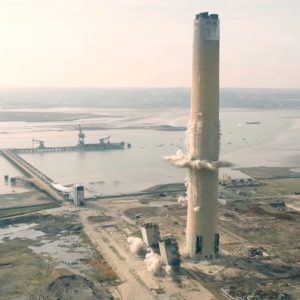 footage of kingsnorth chimney demolition